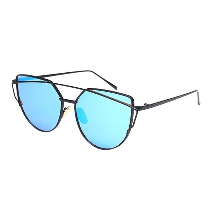 Gafas de sol, SHOBDW Metal Unisex UV 400 Protección Aviador ...