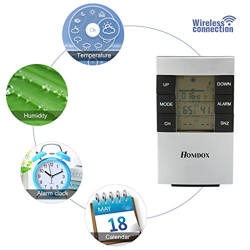 Homdox weather station forecaster wireless temperature for Indoor design temperature