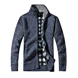 Faionny Men Jacket Winter Autumn Coat Zipper Warm Blouse Casual Thick Long Sleeve Tops