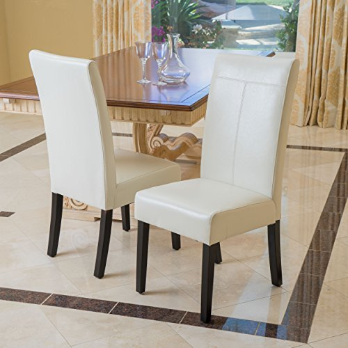 Ivory Pu Leather (Emilia Ivory PU Leather Dining Chairs (Set of 2))