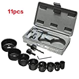 Enjoydeal 11pc/pack Hole Saw Cutter Tool Set Carbon Steel Gypsum Board Ceiling Woodwork Case