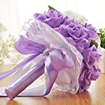 Micozy-Wedding-Bouquet-Purple-Flower-Bridesmaid-Bouquet-Bridal-Bouquet-with-Crystals-Soft-Ribbons-Artificial-Rose-Flowers-for-Wedding-Party-and-Church-Mothers-DayPurple-Big-Size