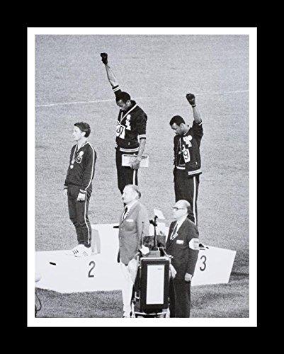Buyartforless IF BAFL2511X 2 Framed Mexico Olympics 1968 Black Power Salute 14X11 Tommie Smith John Carlos Historic Art Print Poster