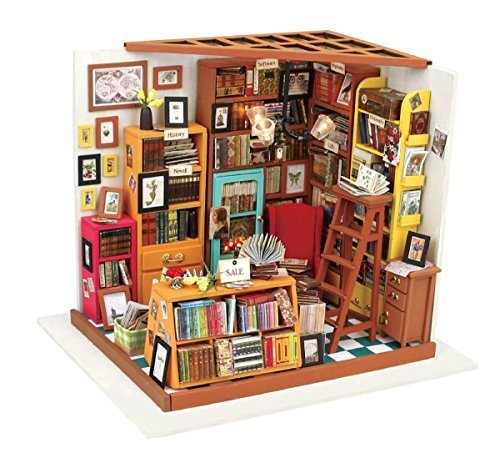 Wooden Dollhouse 3D Puzzle Kit for Adults and Kids, Miniature Furniture (Office) ()