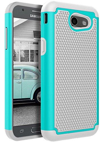 For Samsung Galaxy J3 Emerge / J3 2017 / J3 Prime / J3 Mission / J3 Eclipse / J3 Luna Pro / Sol 2 / Amp Prime 2 / Express Prime 2 Case, KMISS Hybrid Dual Layer Defender Protective Case Cover (Mint)