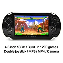 8GB Handheld Game Console 4.3 Inch 32Bit Video Game Console Built In Classic FC/NES,SFC/SNES/GB/GBC/GBA/SMC/SMD/SEGA Games MP3 MP4 Player Support Ebook Camera Recording Gaming Consoles