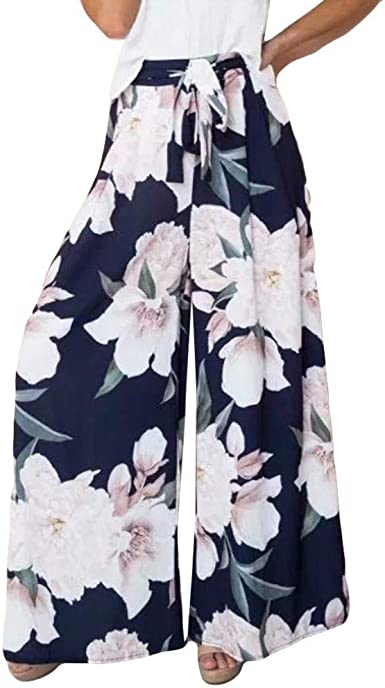 Pantalones Harem Mujer Primavera Modernas Casual Largos Elegantes Otono Pantalon Retro Floreadas Pantalones Anchos Fashion Cintura Alta Baggy Pluderhose Pantalon Anchos Amazon Es Ropa Y Accesorios