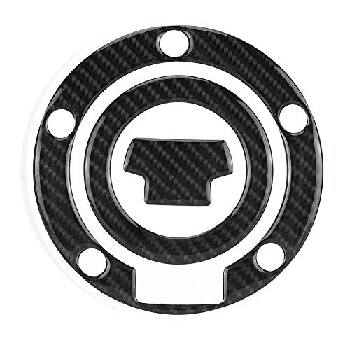 (Aramox Gas Tank Cover, Carbon Fiber Motorcycle Gas Tank Cap Pad Cover Sticker Decals for Yamaha YZF-R1 R6)