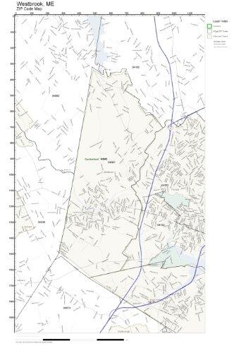 Amazoncom ZIP Code Wall Map of Westbrook ME ZIP Code Map Not