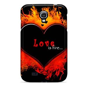 Unique Design Galaxy S4 Durable Tpu Case Cover Love Is Fire by icecream design