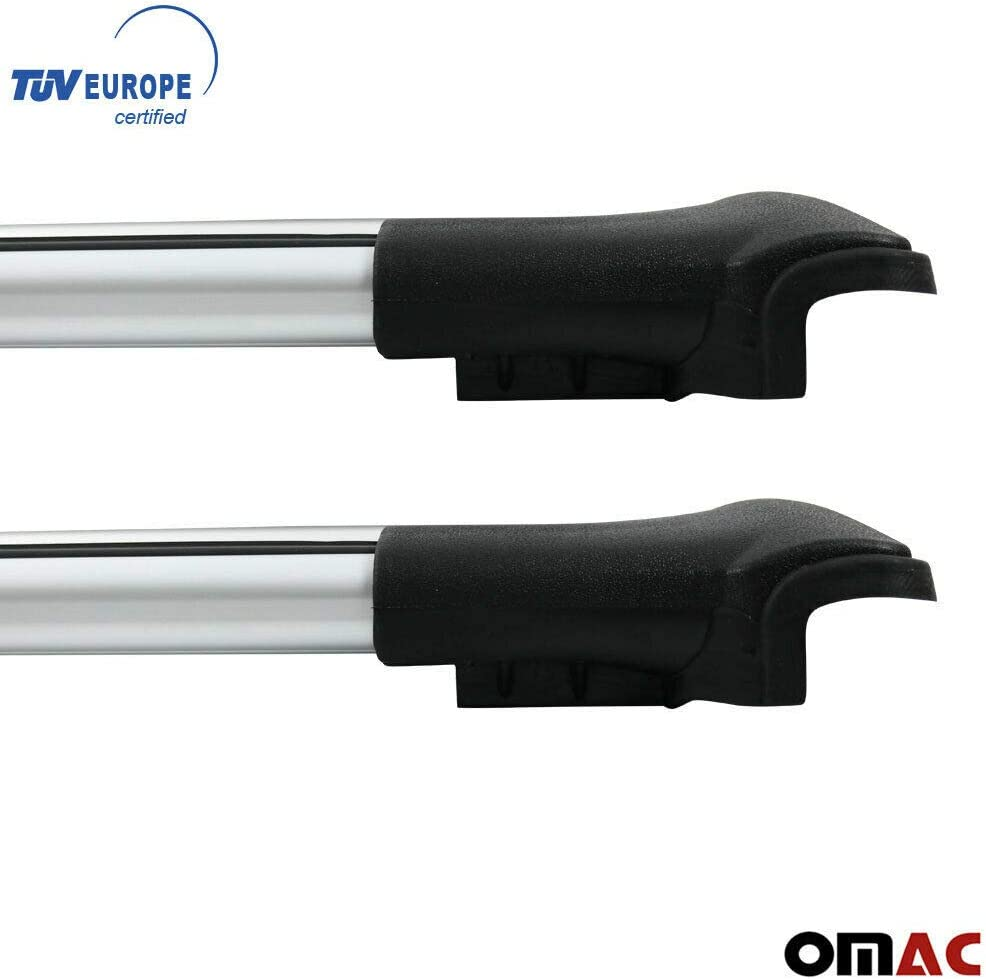 Omac Gmbh Aluminium Grau Dachträger Dachgepäckablage Relingträger Kompatibel Mit Dacia Duster 2010 2020 Dachgepäckträger Mit TÜv Abe Auto