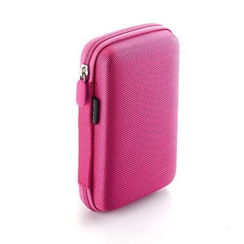 Drive Logic DL-64-PINK Portable EVA Hard Drive Carrying Case Pouch, Pink