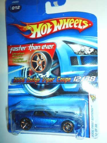 Hot Wheels 2006 #016 First Editions 12/38 2006 Dodge Viper Coupe FTE Wheels (2006 Dodge Viper compare prices)