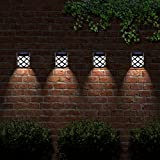 Solalite 6 LED Decorative Wireless Garden Solar Lights Weatherproof Outdoor Fence Lamps (2)