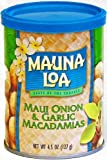 Mauna Loa Maui Onion & Garlic Macadamia Nuts, 4.5-Ounce Can (Pack Of 3)