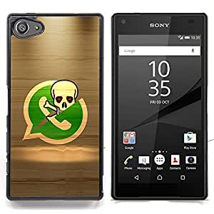 For Sony Xperia Z5 compact / mini - Pirate Skeleton Phone Dise???¡Ào Protecci????n Cubierta de la caja ultra delgada de Snap de pl????stico duroco duro - God Garden -