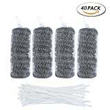 Best Ties For Washing Machines - Unime 40 Pack Lint Traps with 40 Pack Review