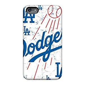 Protector Hard Phone Covers For Apple Iphone 6 Plus With Custom Lifelike Los Angeles Dodgers Series LeoSwiech