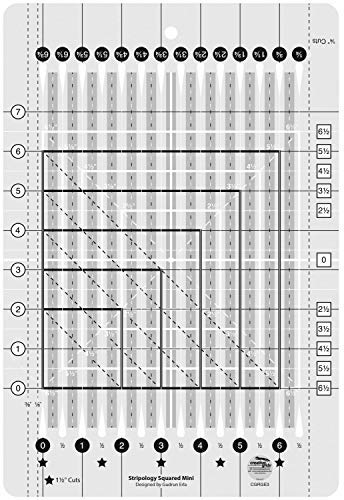 Creative Grids Stripology Squared Mini Quilting Ruler by Creative Grids