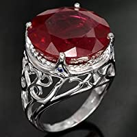 Fashion Jewelry 925 Silver Women/Mens Red Ruby Gemstone Ring Wedding Jewelry (6)
