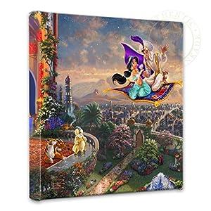 Thomas Kinkade – Gallery Wrapped Canvas , Aladdin , 14″ x 14″ , 63636