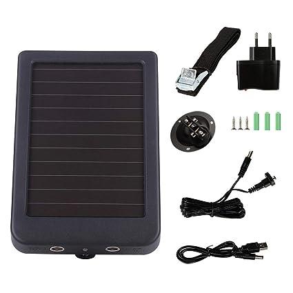 H-sunshy Cargador Solar Portátil, Batería Externa Puertos de USB Panel Solar con Alta