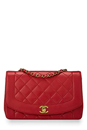 0985de3b7965 Image Unavailable. Image not available for. Color: CHANEL Red Quilted ...