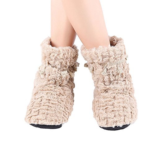 Warm Women Sheep Baolustre Gray Cotton Ful Winter Slippers Slippers Home gAEqwfS