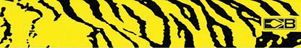Bohning Carbon Arrow Wraps, Yellow Tiger,7-inch