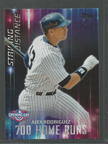 2016 Topps Opening Day Striking Distance #SD-3 Alex Rodriguez Yankees Baseball Card NM-MT -