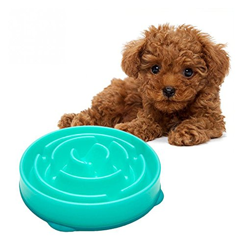 Geekercity Pet Dog Preventing Choking Dog Feeder Slow Eating Pet Bowl healthy Design Prevent Gluttony Obesity Dog Bowls Heat-Resistant Pets Pot Melamine Intelligence Slow Down Dog Bowl