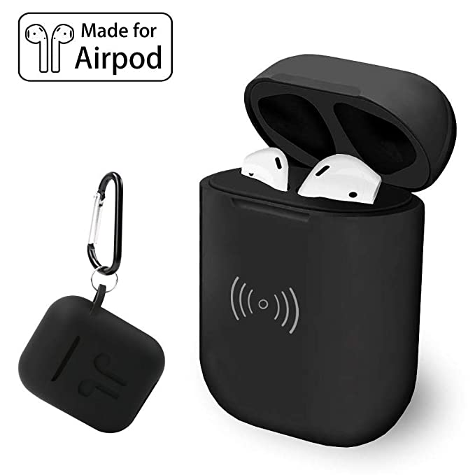 super popular 45653 aa0b3 Wireless Charging Case, COSOOS Charger Case Replacement with Free Silicone  Protective Cover, Lightweight Original Size Compatible with Airpod (Earbud  ...