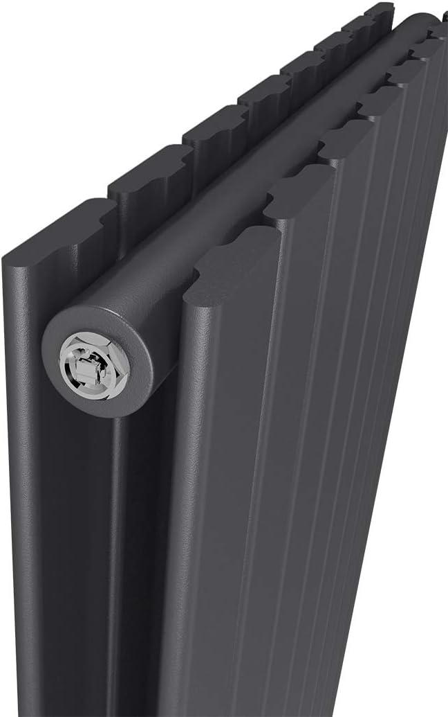 Design-Heizk/örper 630x1000mm Heizk/örper Horizontaler Wei/ß Panelheizk/örper Seitenanschluss Doppellagig Heizung 1435W