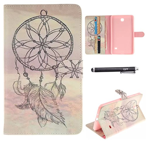 Galaxy Tab 4 7.0 Case, Newshine Stand Flip Case Cover with Magnetic Closure & Card Slots for Samsung Galaxy Tab 4 7.0-Inch Tablet SM-T230 (Dream Catcher-Plain)