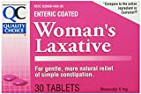 Quality Choice Enteric Coated Women's Laxative Bisacodyl Tablets, 180 Count