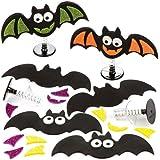 """Bastelsets """"Halloween-Fledermaus"""" mit Hüpffunktion als lustiges Spielzeug für Kinder zum günstigen Preis – perfekt als kleine Party-Überraschung für Kinder zu Halloween (6 Stück)"""