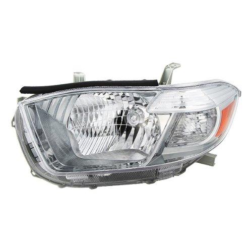 TYC 20-6898-91 2008 2009 Toyota Highlander Sport Headlight Head Lamp Light Assy Lh New TO2502177 ()