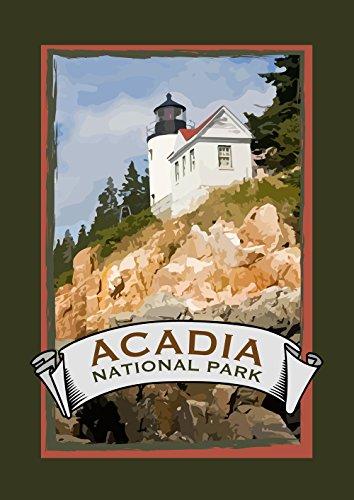 Toland Home Garden Acadia National Park 28 X 40 Inch Decorative Atlantic Coastal Maine Lighthouse House Flag