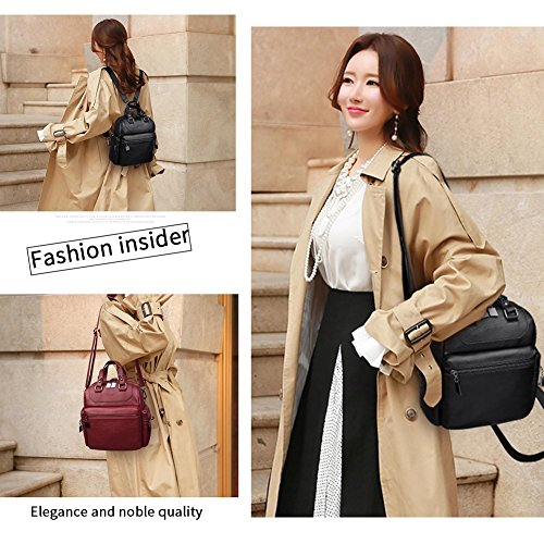 Ladies Z Rucksack Women purple Purse Anti Bag Bag Shoulder Handbag theft Travel Backpack 77rP0v