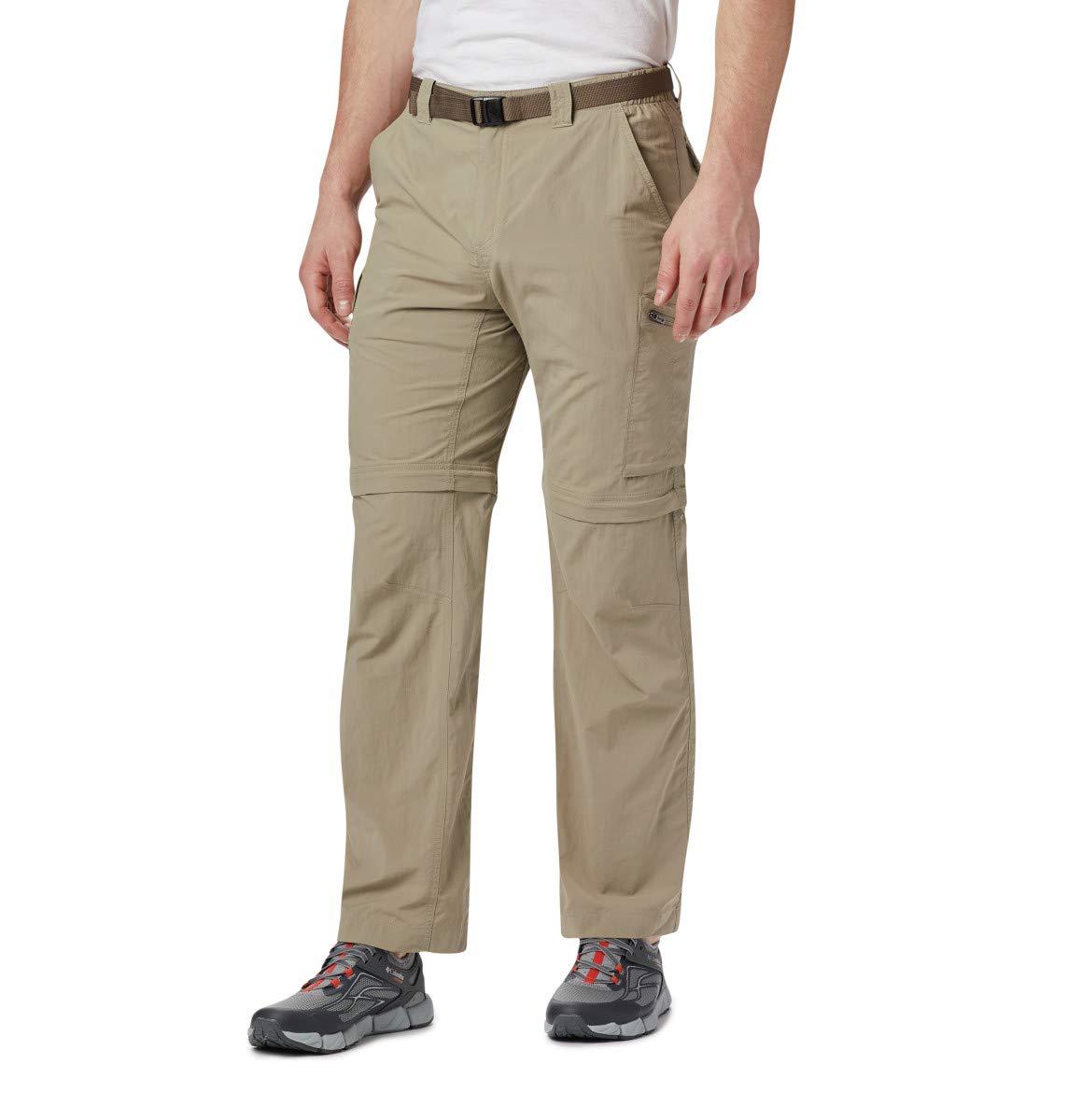 Marron - Ivoire  Columbia argent Ridge Convertible Pantalon Homme