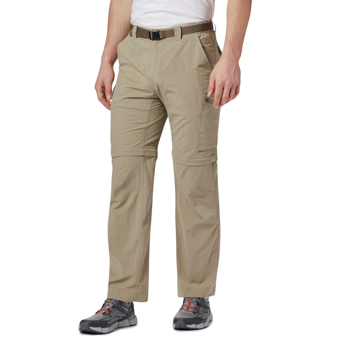 Columbia Men's Silver Ridge Convertible Pant, Breathable, UPF 50 Sun Protection, Tusk, 36x30 by Columbia