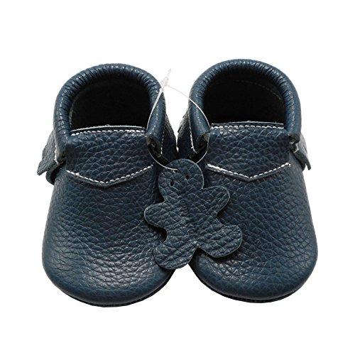 Happy Kids Premium echtes weiches Leder Krabbelschuhe Jungen Säuglingskleinkind -Schuhe Mokassins