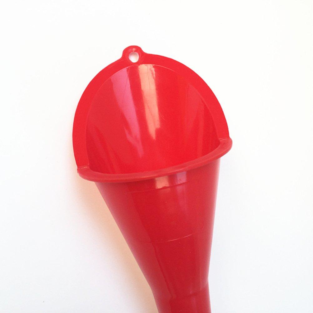 Rojo vorcool kunststofftrichter multiusos Cuello Largo Embudo para Auto aceite//Gas aditivos//Lubricante y l/íquidos