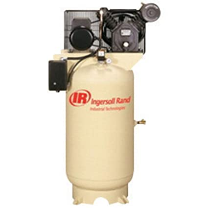 Ingersoll Rand Model 2545 10 hp 35 CFM 200 V 3 PH 60 Hz 175 PSIG Type 30 Two-Stage Reciprocating Air Compressor With 120 Gallon Vertical Tank, ...