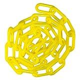 "Mr. Chain 30002-25 Plastic Barrier Chain, High Density Polyethylene with UV Inhibitors, 1.5"" Link x 25', Yellow"