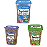 Temptations Cat Treats Variety Bundle - (3) 16 Oz. Tubs