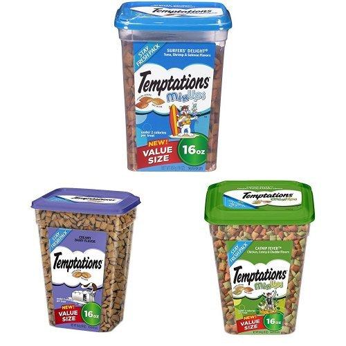 Temptations Cat Treats Variety Bundle, (3) 16 Oz. Tubs ()