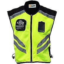 Riding Tribe JK22 Mens Motorcycle Racing Sleeveless Jacket Safety Reflective Vest (3XL-1/