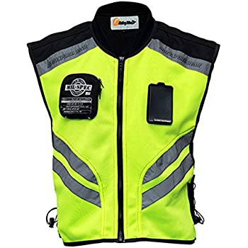 48e224012bb0f Riding Tribe JK22 Men's Motorcycle Racing Sleeveless Jacket Safety  Reflective Vest (3XL-1/