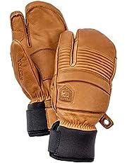Hestra Hens Ski handschoenen: Herfst Lijn Winter Koud Weer Leer 3-Vinger Wanten, Kurk, 7